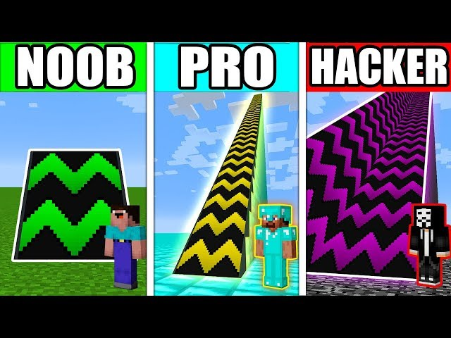 Minecraft NOOB vs PRO vs HACKER : SUPER RAMP TRAMPOLINE in Minecraft!