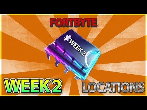 All Week 2 Fortbyte Location Guide Season 9 - #55 #82 #81 #17 #64 #08 #22