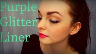 How to: Purple Glitter Liner Thumbnail