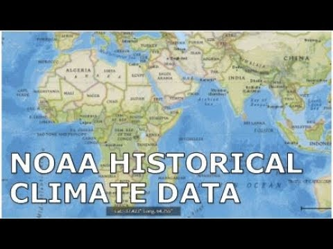How To Download Historical Climate Data From NOAA