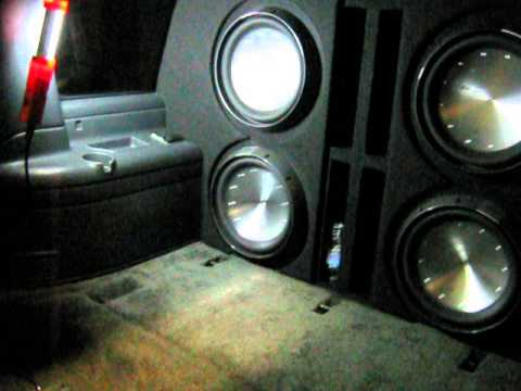 Chevy Suburban Subwoofer wall with 4 Rockford Fosgate 15
