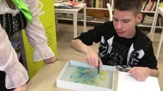 Уроки эбру рисование на воде для особенных детей с ОВЗ