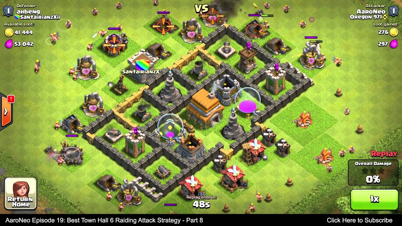 Best clash of clans attack strategy th8