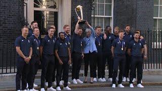 Team England meet British PM Theresa May post World Cup win
