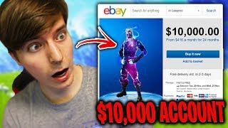 I spent $10,000 on a Fortnite Account - Challenge