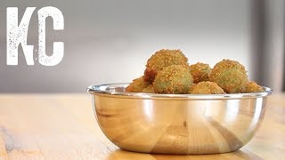 Fried Olives Stuffed with Gorgonzola Cheese - Recipe and How To