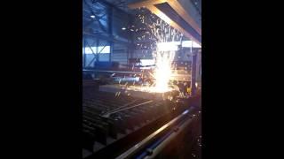 Газовая резка металла 220 мм.(Газовая резка металла толщиной 220 мм на предприятии RGR Airon. Эстония., 2015-10-02T10:02:55.000Z)