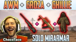 AWM + GROZA + GHILLIE - ChocoTaco solo FPP MIRAMAR | PUBG HIGHLIGHTS TOP 1 #157