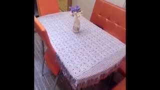 mantel tejido a crochet rectangular