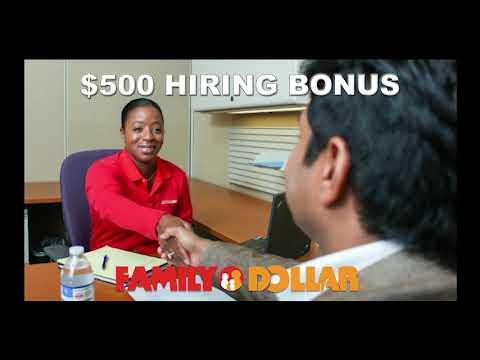 Family Dollar Distribution Center HIRING BONUS 10-27-19 TV:60
