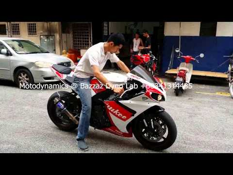 Yamaha R1 Bazzaz ZFi Dyno & Termignoni Single Exhaust - Motodynamics Technology Malaysia