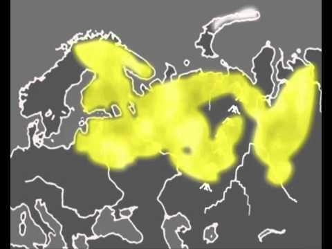 Uralic languages animation