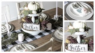 DOLLAR TREE/HOBBY LOBBY FALL TABLESCAPE DIY