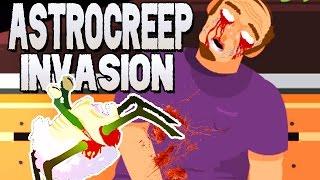 Astrocreep Invasion German Gameplay - Killer Schnecke aus dem All