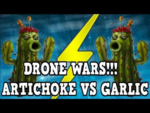 Plants vs Zombies Garden Warfare - Artichoke Drone vs Garlic Drone (New Abilities)