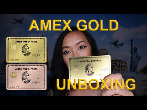 American Express Metal Gold Card Unboxing