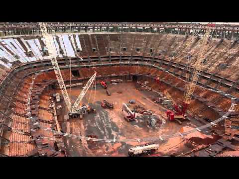 Estadio Nacional de Brasilia - Big Lift - Time Lapse