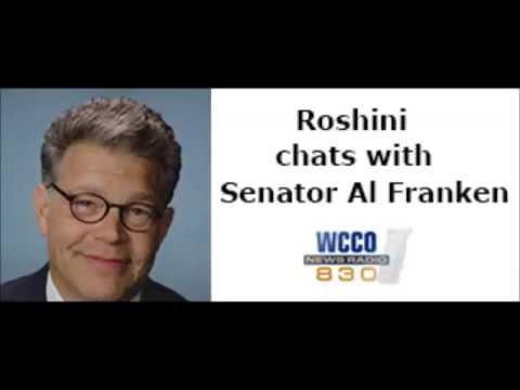 Roshini chats with Senator Al Franken