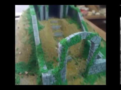 graveyard and mausoleum terrain for 28mm wargaming