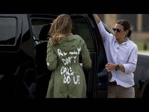 Melania Dons 'I Really Don't Care, Do U?' Jacket