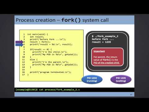 CSCI 3150: 2015-09-14 - fork() system call