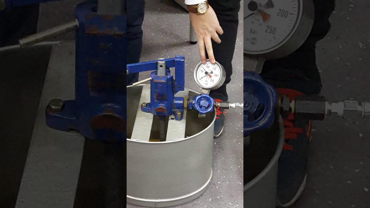 Гидравлические испытания труб Rehau