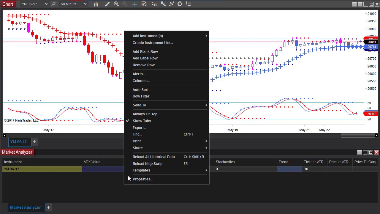 Modifying NinjaTrader 8 Market Analyzer - TradersHelpDesk Blog
