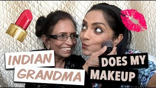 HILARIOUS!  Indian Grandma Does My Makeup!!! | Deepica Mutyala
