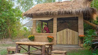 Build The Most Beautiful Off Grid Bamboo Kitchen, Girl Living Off The Grid