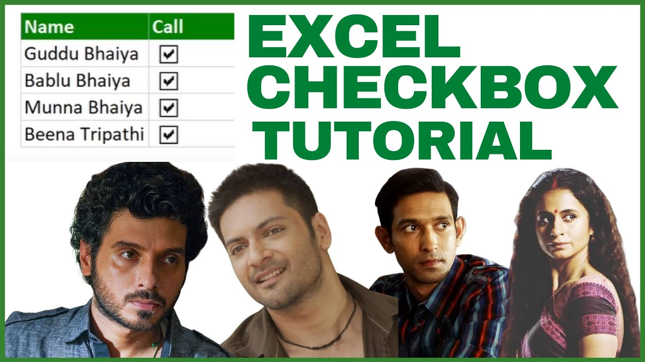 How To Insert Checkbox In MS-Excel In 5 Minutes (2021) | Excel Checkbox Tutorial | Neeraj Arora