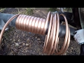 Off grid round house build part 35 hot water coil for the wood stove