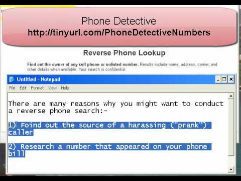 free cell phone number lookup