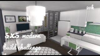 | ROBLOX| Bloxburg|5x5 Modern house| Build Off|ft. Xortri