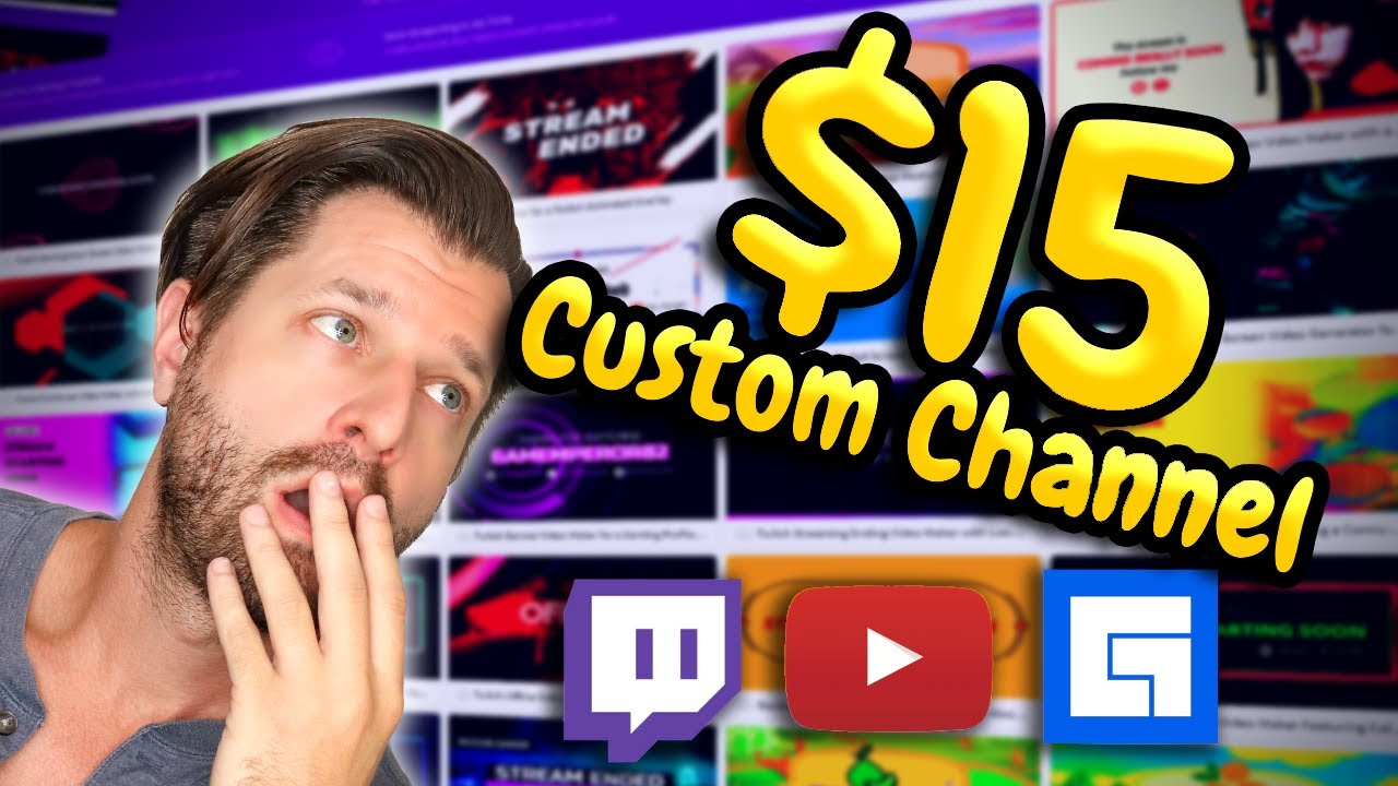 Upgrade Any Stream & Channel For ONLY $15 - New Streamer Store!