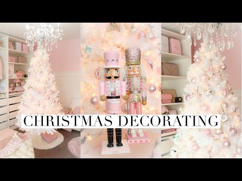 DECORATING FOR CHRISTMAS!🎄❄️FULL ROOM TRANSFORMATION!
