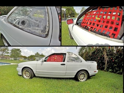 RACE WINDOWS INSTALLED!! Track Toy Nissan Sentra B13 Project