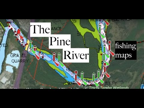 Fishing Pine River, Brisbane - maps, spots and more.