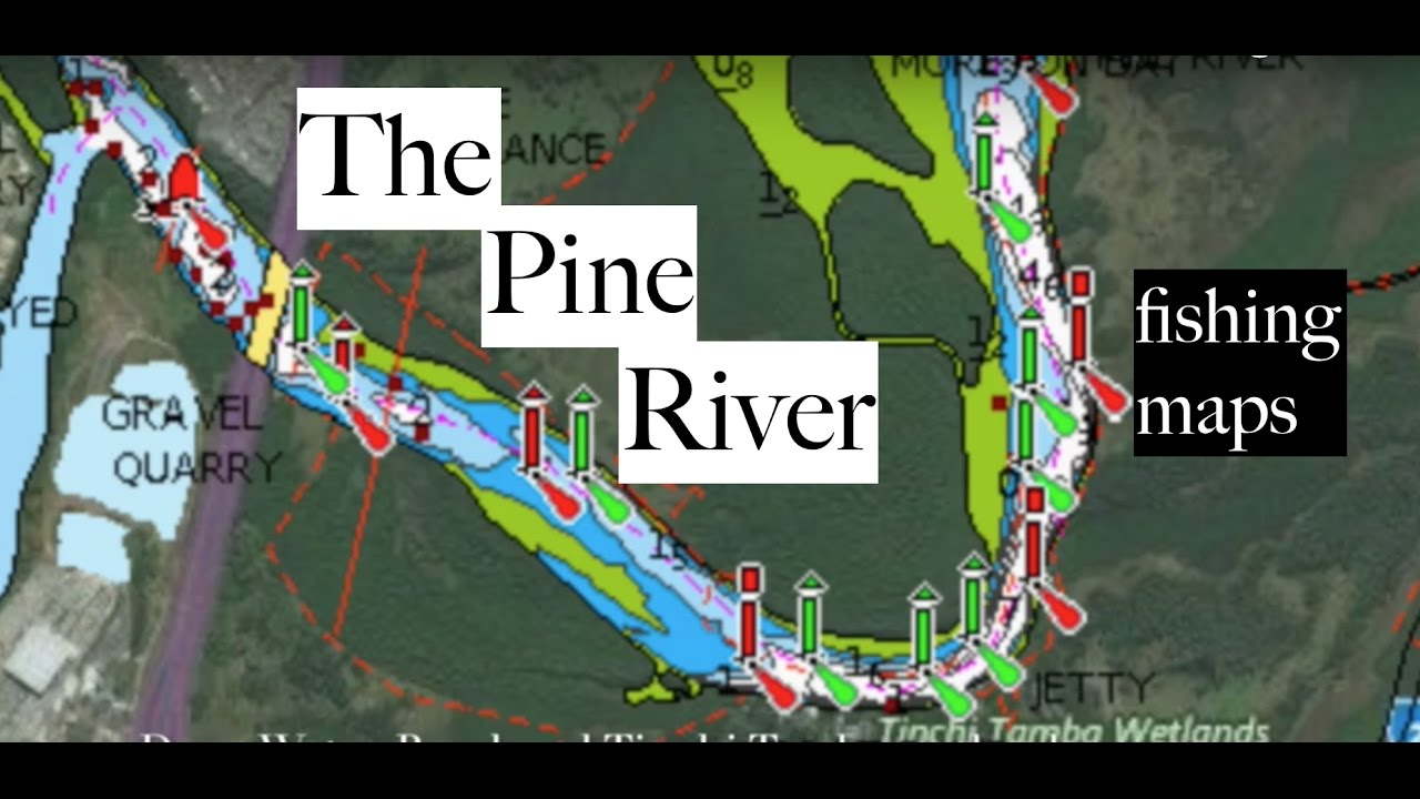 Fishing Pine River, Brisbane - maps, spots and more