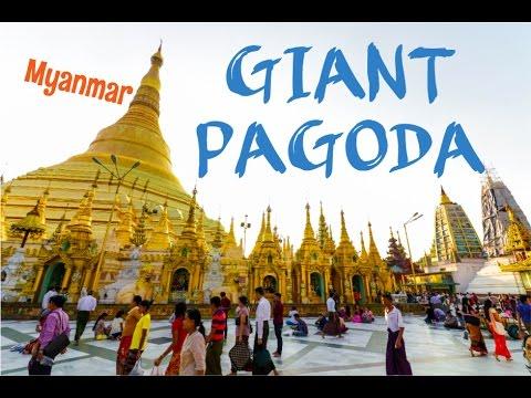 GIANT SHWEDAGON PAGODA - Rangoon, Myanmar