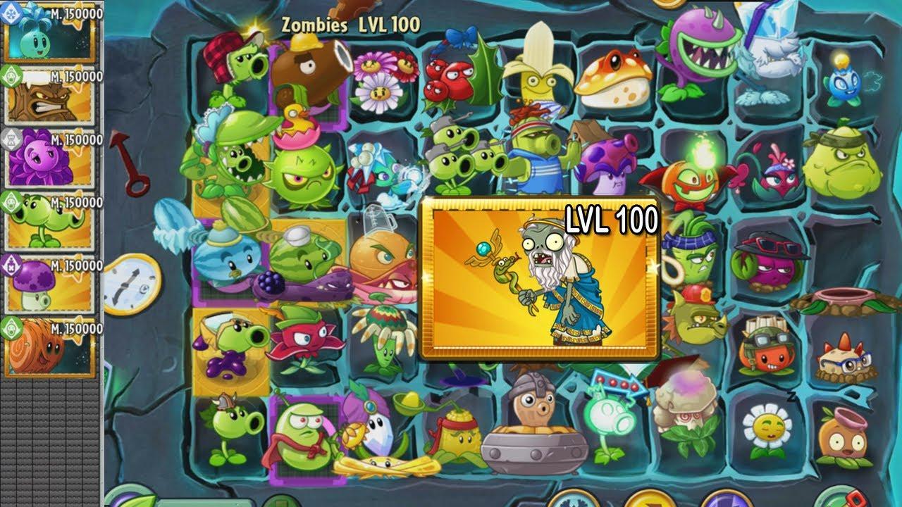 Plants vs Zombies 2 - Zombi Sanador  NVL 100 vs Todas las Plantas