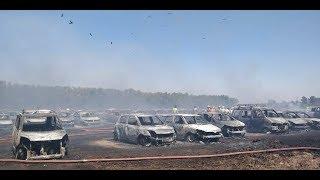 Massive fire accident at Aero Show India Bangalore   2019