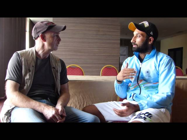Sardar Singh captain of the India Mens Hockey Team talks to Budgie from sports Media Group.com.au