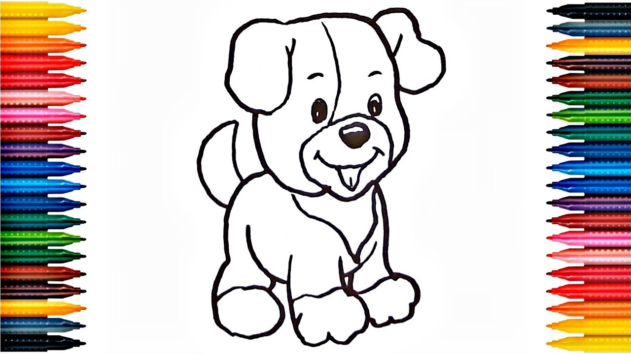 How to Draw Puppy Drawing Cute Puppy Colors Picture ...