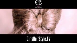 Repeat youtube video リボンヘアアレンジ:髪を結びながら作るやり方