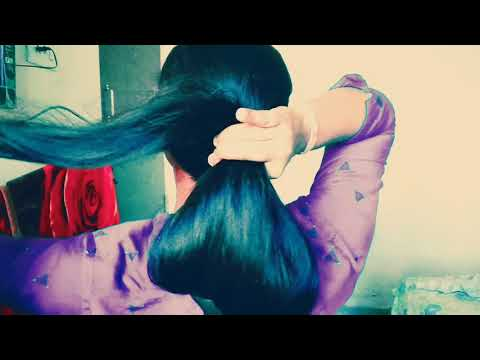 Long Hair Bun/long Hair Play/Best Long Hair Video