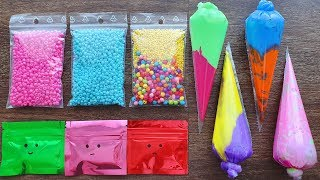 Making Slime With Bags and Piping Bags - Satisfying Slime Videos