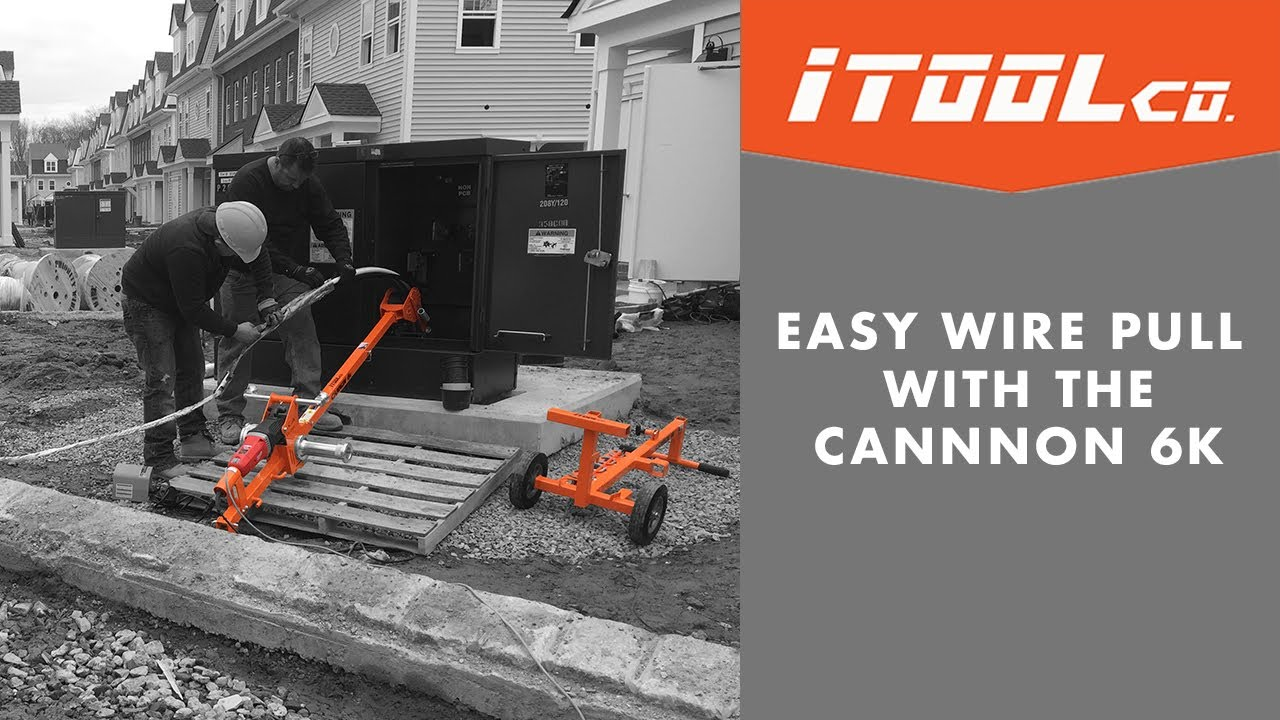 How To Make a Wire Pull Easy with the iTOOLco Cannon 6K - YouTube