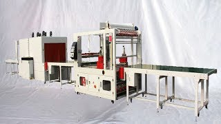 big objects furniture sealing film shrinking packaging line automatic wooden case packer 家具包裝封切收縮機 thumbnail