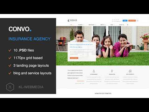 Convo - Insurance Agency PSD Template | Themeforest Website Templates and Themes