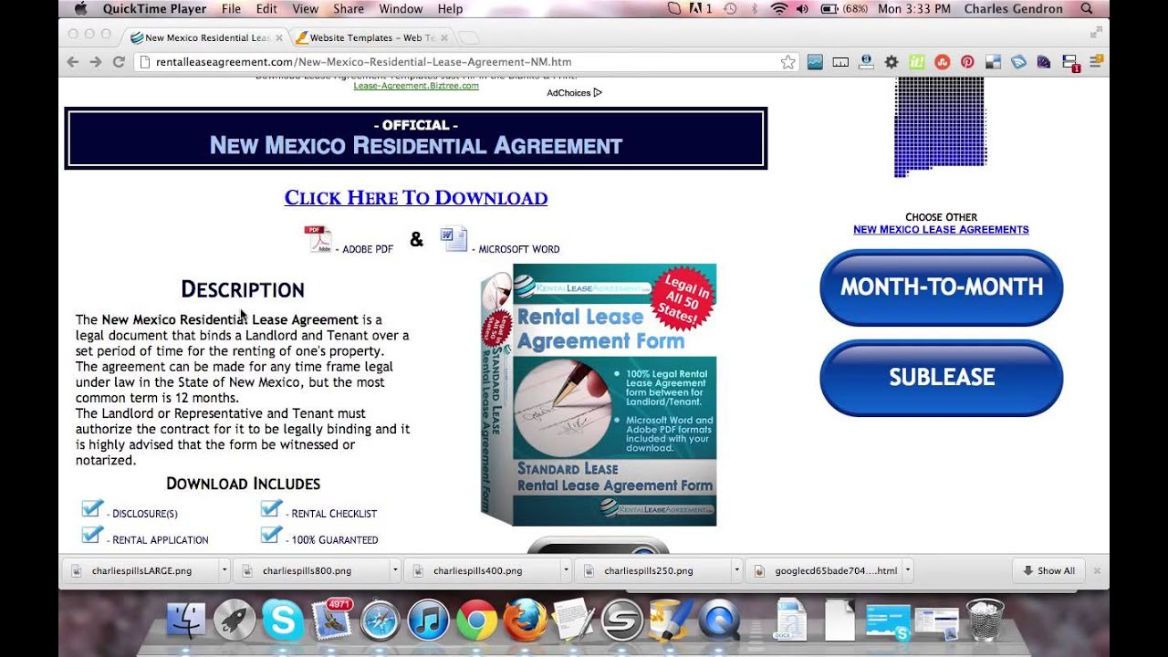 New Mexico Residential Lease Agreement Youtube